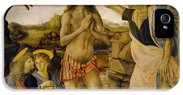 The Baptism Of Christ IPhone 5 Case by Leonardo da Vinci