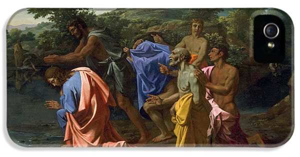 The Baptism Of Christ IPhone 5 Case by Nicolas Poussin