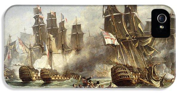 The Battle Of Trafalgar IPhone 5 Case by English School