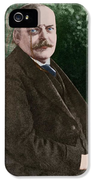 The German Psychiatrist Alois Alzheimer IPhone 5 Case by National Library Of Medicine