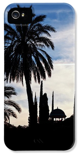 The Silhouetted Temple,botanical Garden IPhone 5 Case