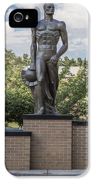 The Spartan Statue At Msu IPhone 5 Case by John McGraw