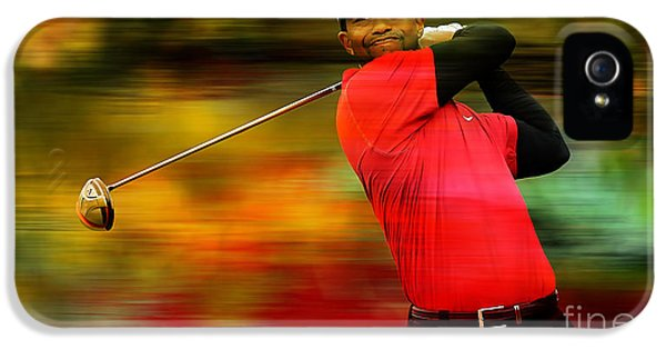Tiger Woods IPhone 5 / 5s Case by Marvin Blaine