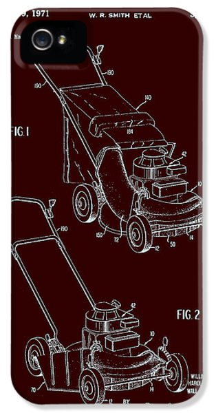Toro Lawn Mower Patent 1971 IPhone 5 Case by Mountain Dreams
