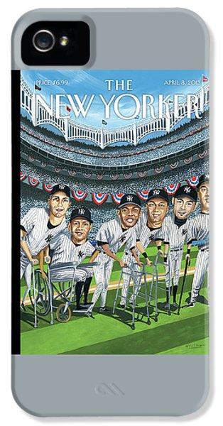 Yankee Stadium iPhone 5 Case - New Yorker April 8th, 2013 by Mark Ulriksen