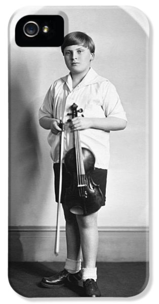Violin iPhone 5 Case - Violinist Yehudi Menuhin by Underwood Archives