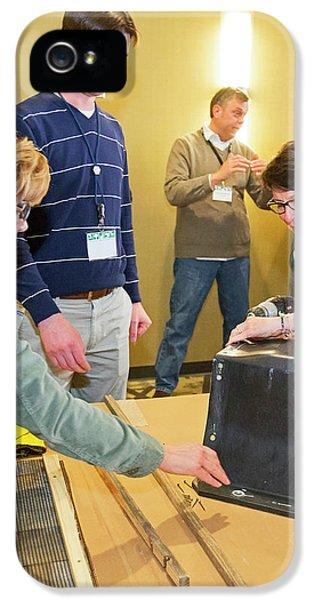 Volunteers Making Bat Houses IPhone 5 Case by Jim West