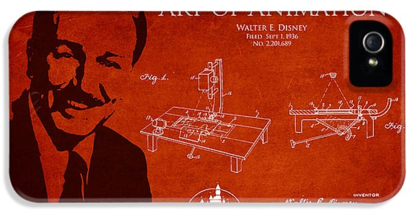 Walt Disney Patent From 1936 IPhone 5 Case by Aged Pixel