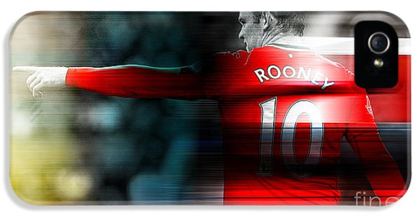 Wayne Rooney IPhone 5 Case by Marvin Blaine