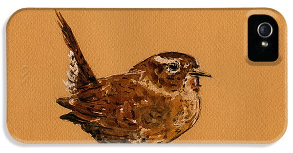 Wren iPhone 5 Case - Wren Bird by Juan  Bosco