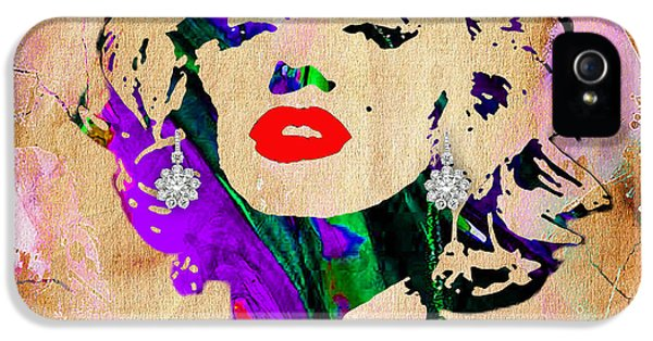 Hollywood iPhone 5 Case - Marilyn Monroe Diamond Earring Collection by Marvin Blaine