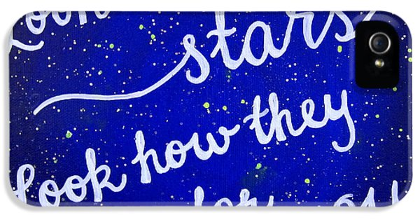 11x14 Look At The Stars IPhone 5 / 5s Case by Michelle Eshleman