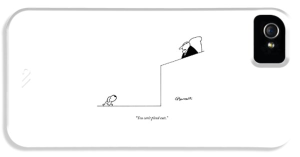 You Can't Plead Cute IPhone 5 Case by Charles Barsotti