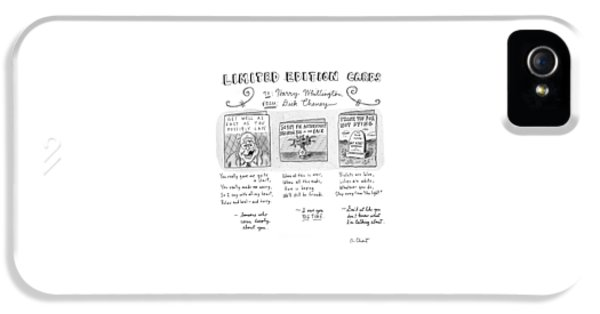 Limited Edition Cards IPhone 5 Case by Roz Chast