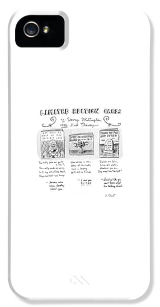 Dick Cheney iPhone 5 Case - Limited Edition Cards by Roz Chast
