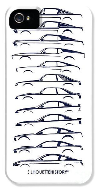 Ford Mustang Silhouettehistory IPhone 5 Case by Gabor Vida
