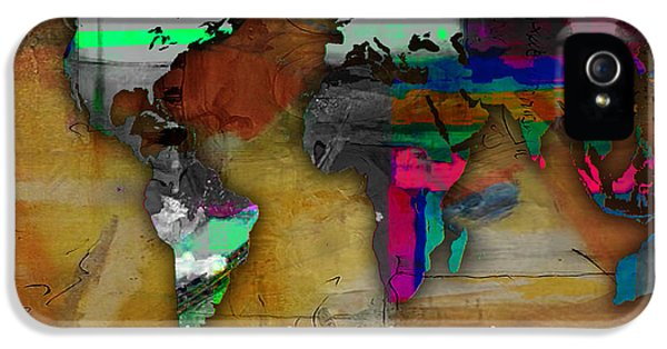 World Map Watercolor IPhone 5 / 5s Case by Marvin Blaine