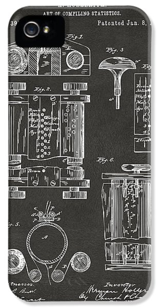 1889 First Computer Patent Gray IPhone 5 Case by Nikki Marie Smith