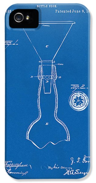 1891 Bottle Neck Patent Artwork Blueprint IPhone 5 / 5s Case by Nikki Marie Smith