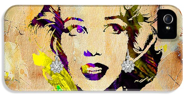 Marilyn Monroe Diamond Earring Collection IPhone 5 / 5s Case by Marvin Blaine