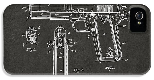 1911 Browning Firearm Patent Artwork - Gray IPhone 5 Case