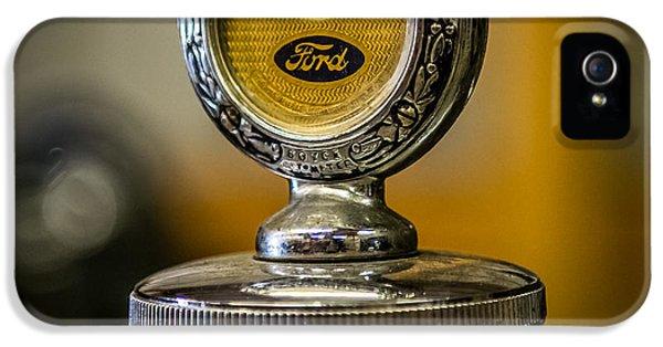 1929 Ford Hood Ornament IPhone 5 Case by Paul Freidlund