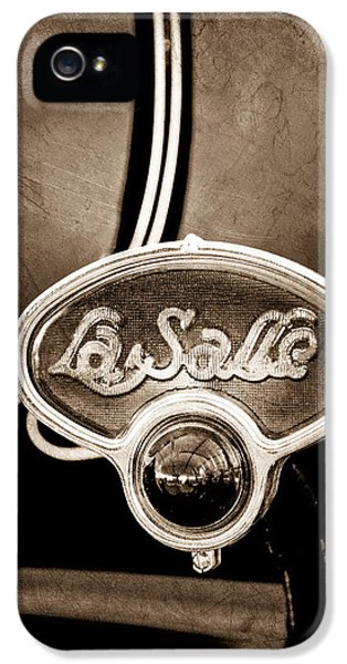1929 La Salle Brake Light Emblem IPhone 5 Case