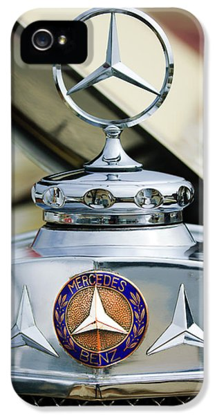 1929 Mercedes-benz Ss Barker Roadster Hood Ornament - Emblem IPhone 5 Case by Jill Reger