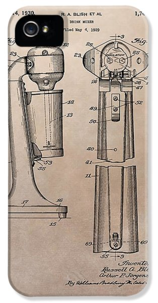 1930 Drink Mixer Patent IPhone 5 Case