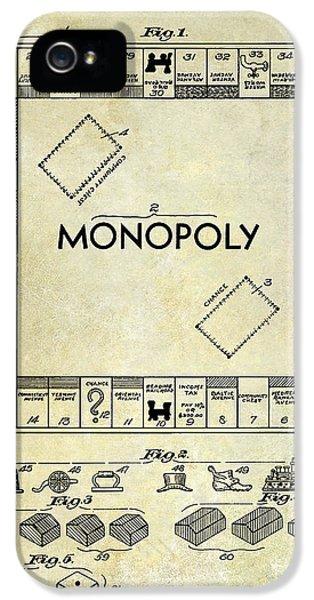 1935 Monopoly Patent Drawing IPhone 5 Case by Jon Neidert