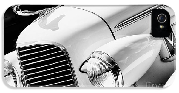 1936 Cadillac V8 Monochrome IPhone 5 Case by Tim Gainey
