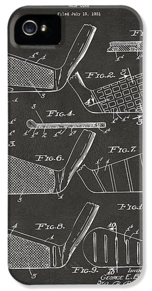 1936 Golf Club Patent Artwork - Gray IPhone 5 Case by Nikki Marie Smith