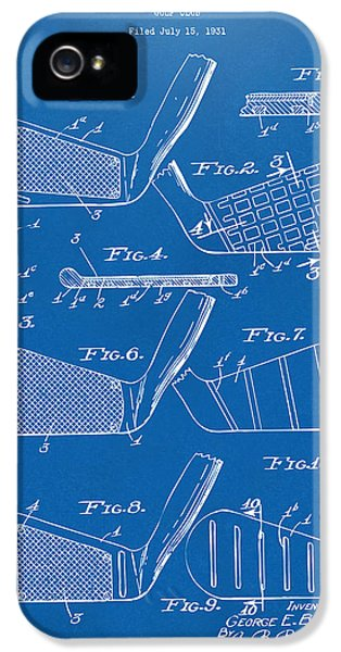 1936 Golf Club Patent Blueprint IPhone 5 Case by Nikki Marie Smith