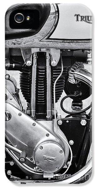 1936 Triumph Tiger 80 Monochrome IPhone 5 Case by Tim Gainey