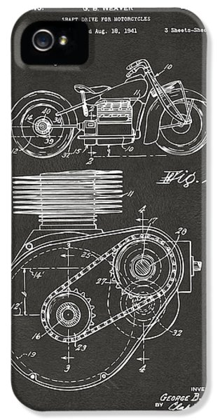 1941 Indian Motorcycle Patent Artwork - Gray IPhone 5 / 5s Case by Nikki Marie Smith