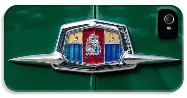 1951 Plymouth Suburban Emblem IPhone 5 Case by Jill Reger