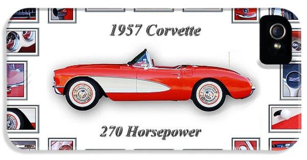 1957 Chevrolet Corvette Art IPhone 5 Case by Jill Reger