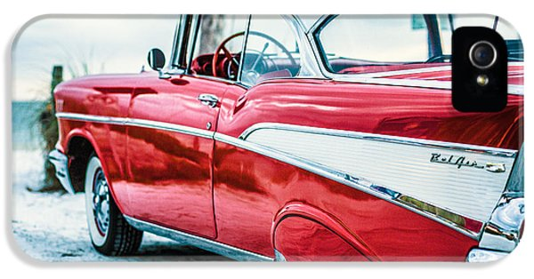 1957 Chevy Bel Air IPhone 5 Case by Edward Fielding
