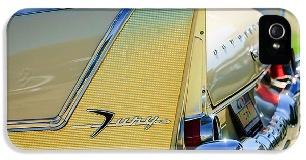 1958 Plymouth Fury Golden Commando Taillight Emblem -3447c IPhone 5 Case