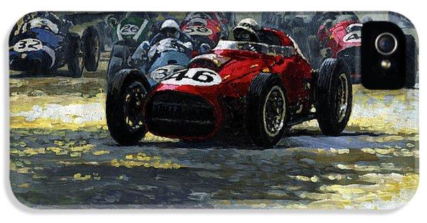 1959 Monaco Gp  #46 Ferrari D246 Jean Behra IPhone 5 Case by Yuriy Shevchuk