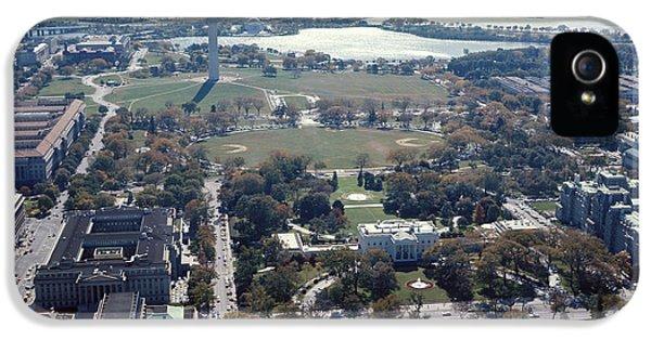 Washington Monument iPhone 5 Case - 1960s Aerial View Washington Monument by Vintage Images