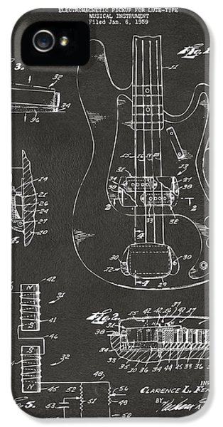 1961 Fender Guitar Patent Artwork - Gray IPhone 5 / 5s Case by Nikki Marie Smith