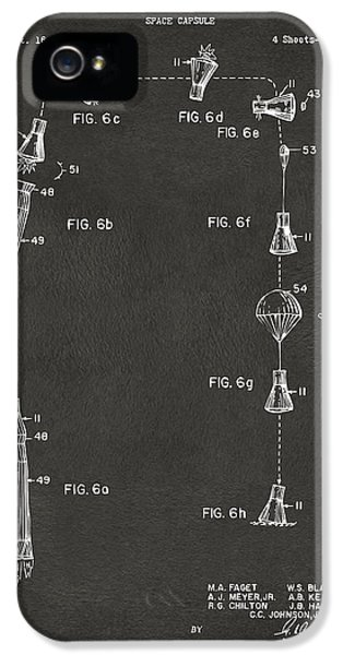 1963 Space Capsule Patent Gray IPhone 5 Case by Nikki Marie Smith