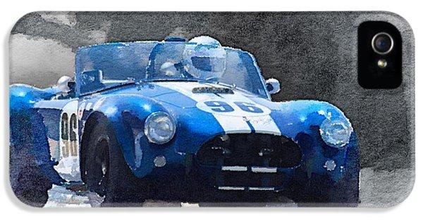 Cobra iPhone 5 Case - 1964 Ac Cobra Shelby Racing Watercolor by Naxart Studio