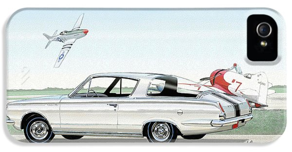 Roadrunner iPhone 5 Case - 1965 Barracuda  Classic Plymouth Muscle Car by John Samsen