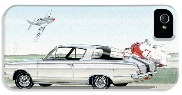 1965 Barracuda  Classic Plymouth Muscle Car IPhone 5 / 5s Case by John Samsen