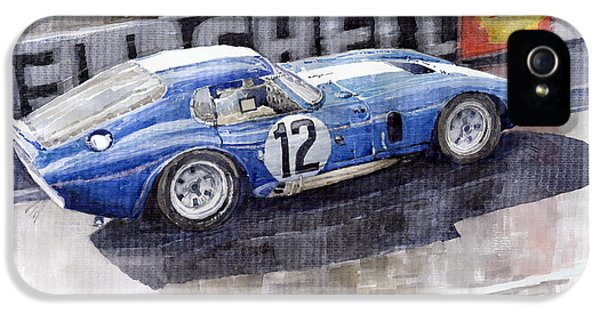 Legends iPhone 5 Case - 1965 Le Mans  Daytona Cobra Coupe  by Yuriy Shevchuk