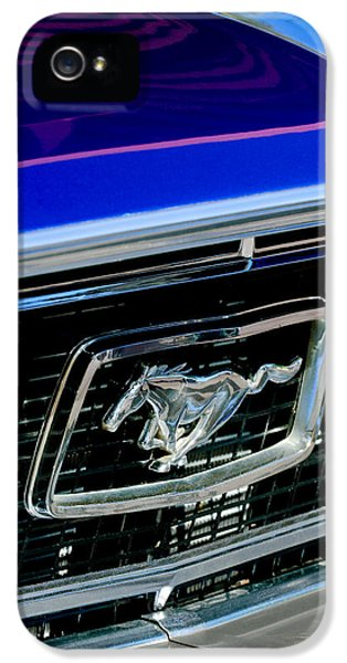 1968 Ford Mustang Cobra Gt 350 Grille Emblem IPhone 5 Case by Jill Reger