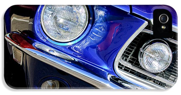 1968 Ford Mustang Cobra Gt 350 Head Light IPhone 5 Case by Jill Reger