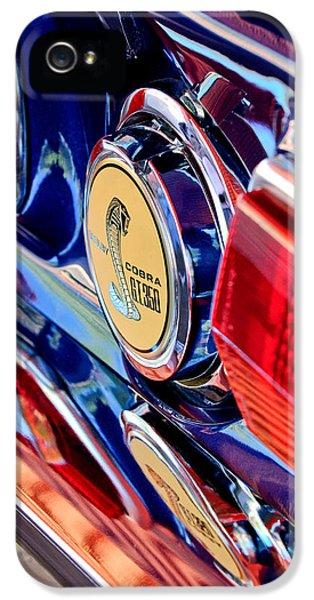1968 Ford Mustang Cobra Gt 350 Taillight Emblem IPhone 5 Case by Jill Reger